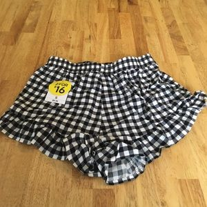 NWT Forever 21 Gingham shorts